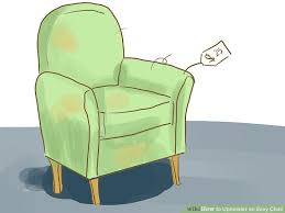 How To Reupholster Armchair How To Upholster An Easy Chair With Pictures Wikihow