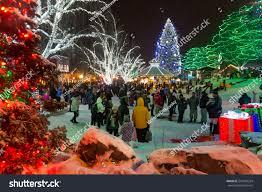 leavenworth wa light festival leavenworth wa december 10th 2016 christmas stock photo royalty