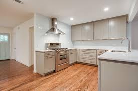 kitchen style light gray glass subway tile modern kitchen