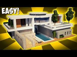 modern house building minecraft how to build a large modern house tutorial 2017
