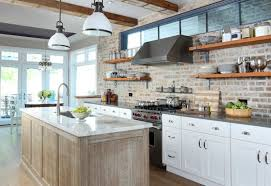 brick backsplash kitchen modern kitchen backsplash ideas for cooking with style