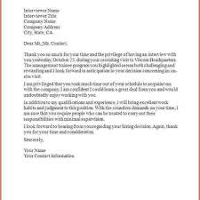 Thank You Letter After Interview Email Samples best example of thank you letter after interview letter format