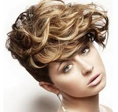 very short in back and very long in front hair women short wavy hairstyle with full of layers and very long bang