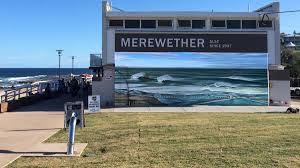 Surf Mural by Topics Swell Of Support For Surf Mural Newcastle Herald