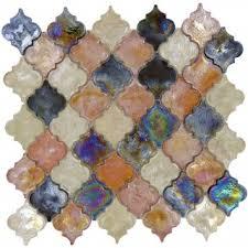 Waterfall Glass Tile Arabesque Grey Glass Arabesque Tile Glossy Dtl3006