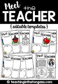 meet the teacher editable letter templates back to