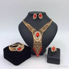 accessories ring necklace images 2018 2016 africa dubai new gold jewelry set necklace earrings jpg