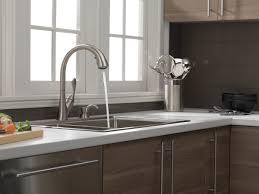 delta ashton kitchen faucet single handle pull kitchen faucet with soap dispenser 19922