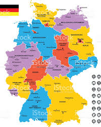 Map Of East And West Germany by Detailed Vector Map Of Germany Stock Vector Art 533774721 Istock