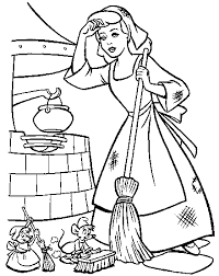 c03 free printable cinderella coloring pages