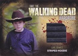 Carl Grimes Halloween Costume 2012 Cryptozoic Walking Dead Season 2 Wardrobe Costume Cards Guide