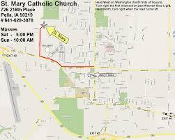 Map Of Columbus St Mary U0027s Catholic Church