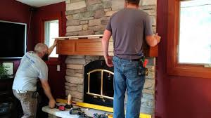 fireplace mantel installation time lapse youtube