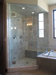 Leaking Frameless Shower Door by Bathroom Glossy Frameless Shower Doors With Two Lamps In Modern