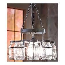 Pottery Barn Mason Jar Chandelier Awesome Lighting Options Collection On Ebay