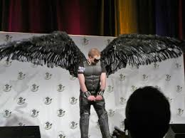comicon masquerade costume articulating wings in motion