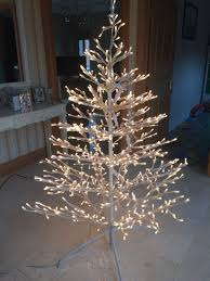 6ft outdoor white light up tree in aberdare rhondda cynon taf