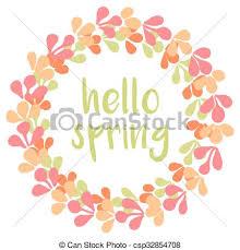 vector clipart of hello vector wreath card hello