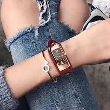 leather ladies bracelet images Leather women bracelet watch fashion casual watch shop jpg