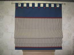 buy roman blind in marine style blue curtains for bedroom