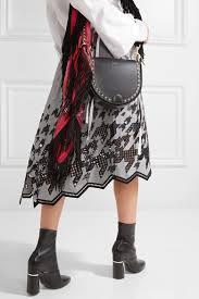 sacai luck sacai fringed printed satin scarf women accessories scarves