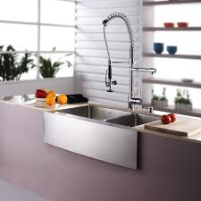 sinks pull sprayer kitchen faucet and soap dispenser