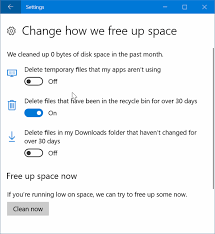 automatically delete files older 30 recycle bin