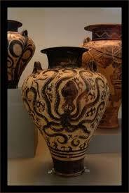 Minoan Octopus Vase Minoan Pottery At The Archeological Museum Minoan Pinterest