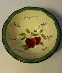 home interiors apple orchard collection home interiors apple orchard collection 6 5 bowl 7 00 picclick