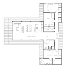 contemporary one story house plans modern contemporary house plan with three bedrooms and floor tiles