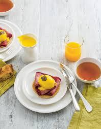 cuisine oeuf oeuf benedict au bacon de thierry marx pour 4 personnes recettes