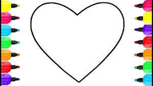 heart shape coloring pages how to draw and coloring heart shape