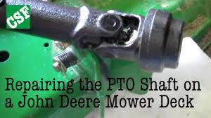 fixing a john deere mower deck pto shaft youtube