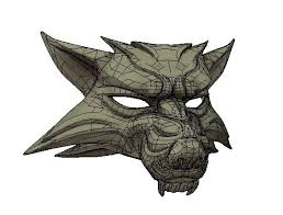 wolf mask the witcher 3 hunt size wolf mask free papercraft
