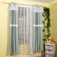 lime green plaid jacquard linen cotton blend color block curtains