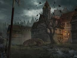 dark village wallpaper dark fantasy village