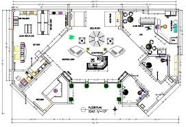 dimensioned floor plan art gallery