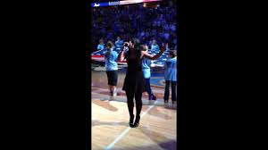 amanda hawkins amanda hawkins national anthem denver nuggets 2013 home opener