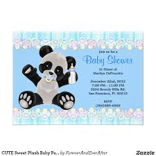 baby shower invitations marvellous panda baby shower invitations