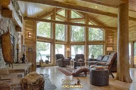 Log Home Interior Walls by Golden Eagle Log Homes Log Homes Org