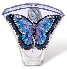 amia 5624 whispering wings vase blue morpho butterfly design 6