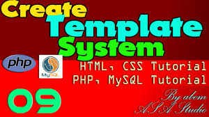 tutorial css php create system template 09 create background table php mysql