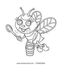 honey beehive wooden hive illustration sketch stock vector