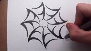 how to draw a spider web tribal tattoo design style youtube