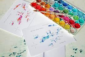 Bvi Map Watercolor Island Map Greeting Cards U2013 British Virgin Islands