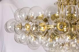 Blown Glass Chandeliers Pair Of Kamenicky Senov Blown Glass Chandeliers Lighting Stock