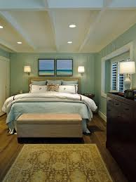 Red And Blue Bedroom Decorating Ideas Bedroom Surfing Board Sea Painting Light Wooden Bed Frame Blue