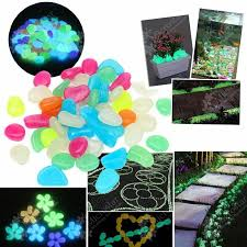 100pcs garden ornaments glow in the