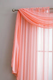 Coral Sheer Curtains Warm Home Designs Coral Window Scarf Valance Sheer Coral Curtains