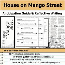 house on mango street theme quotes house on mango street anticipation guide reflection by s j brull